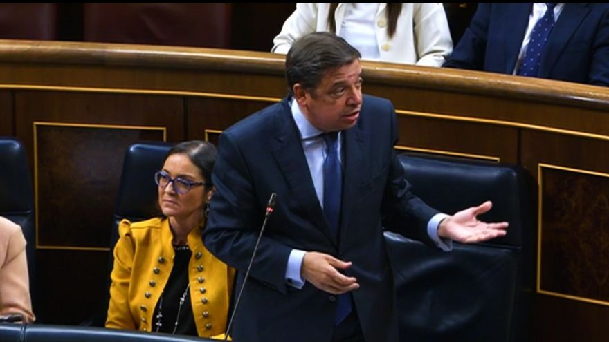 El ministro Luis Planas en el Congreso