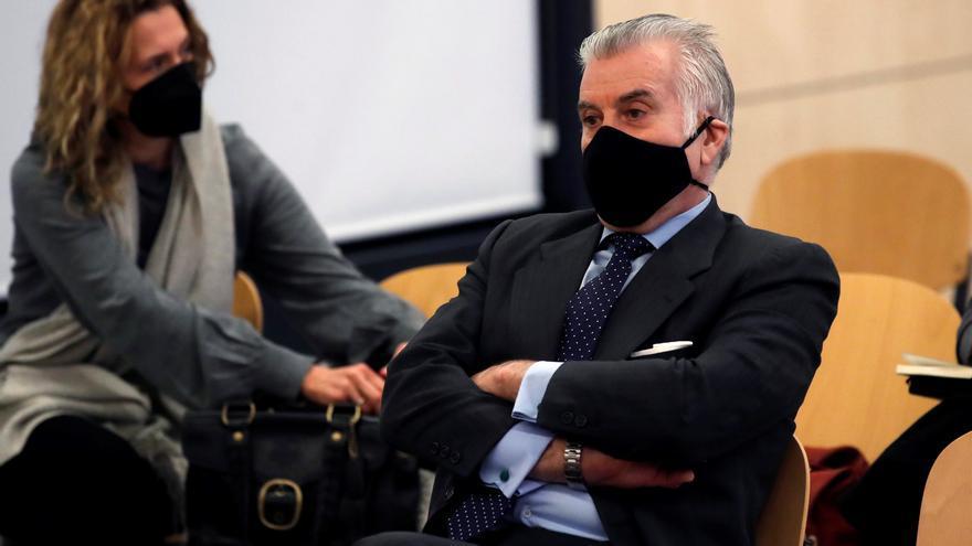 Luis Bárcenas en la sesión del lunes del juicio de la caja B en la Audiencia Nacional.