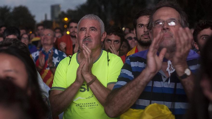 Miles de personas se concentraron en Arc de Triomf en apoyo de la independencia