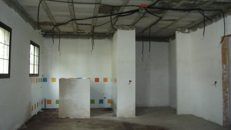 Defectos constructivos detectados en la guardería.