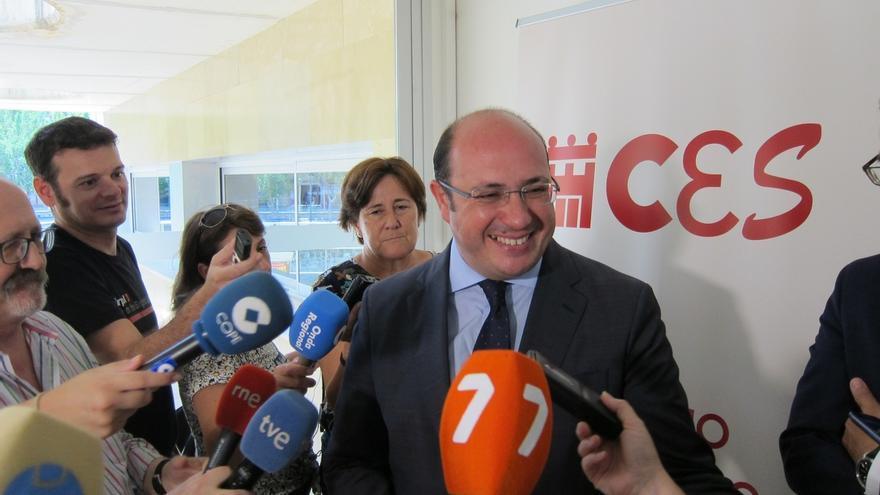 El Presidente de la Región Murcia, Pedro Antonio Sánchez