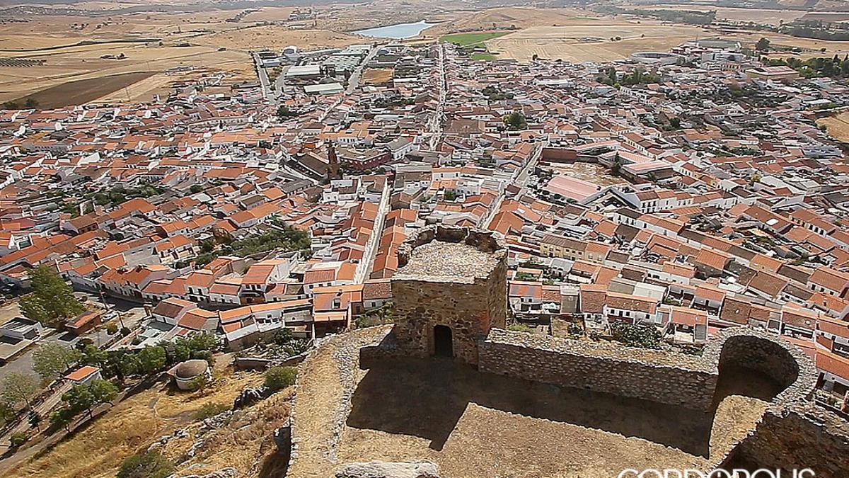 Imagen aérea de Belmez