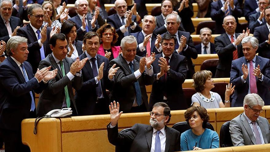 El Senado autoriza al Gobierno la aplicación del artículo 155 en Catalunya