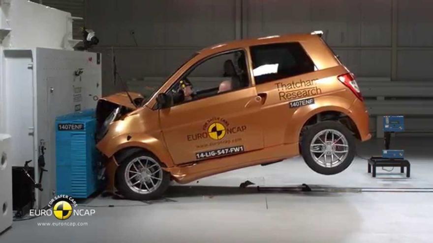 Los resultados que obtienen los microcoches en los crash test no suelen ser muy exitosos.