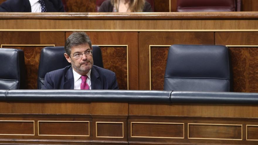El ministro de Justicia, Rafael Catalá, durante una sesión del Congreso.