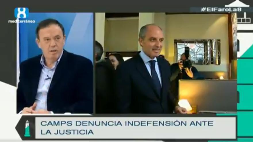 Joan Ignasi Pla participa en el programa de televisión 'El Faro La 8'