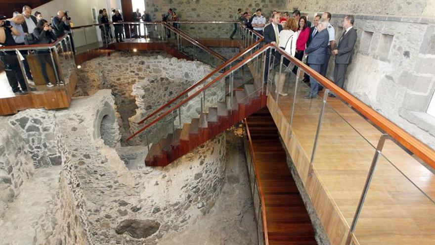 Inauguración del Castillo de Mata, que albergará el Museo de la Historia de la ciudad. EFE/Elvira Urquijo A.