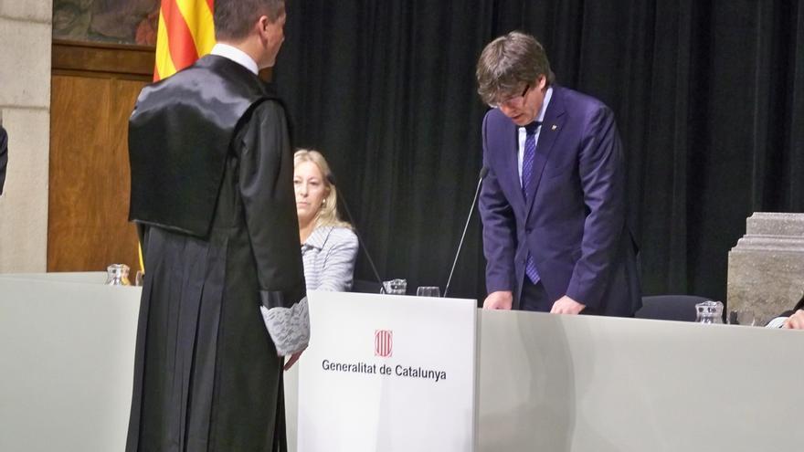 """Puigdemont apuesta por la """"persistencia"""" para conseguir lo que se propone el pueblo catalán"""