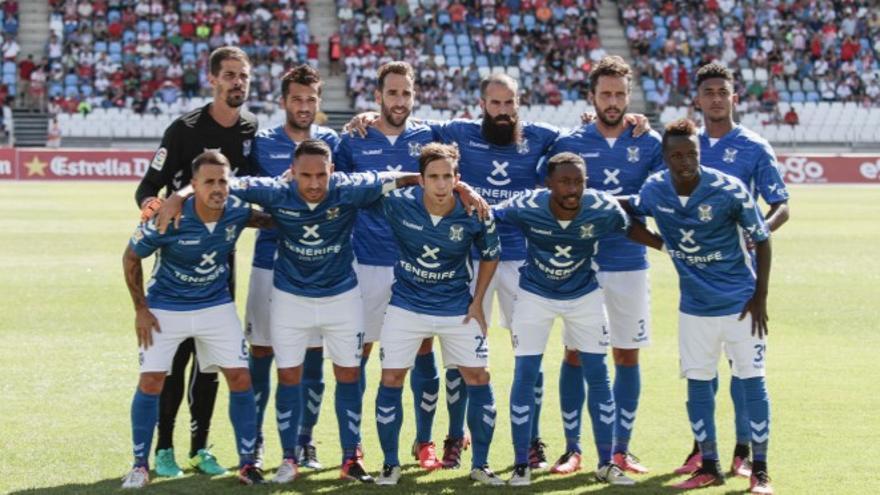 El once del CD Tenerife.
