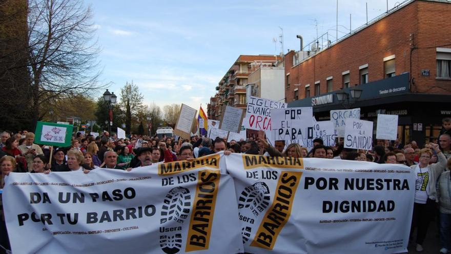 Marcha de los 7 barrios de Usera que se hizo en 2013. / FRAVM