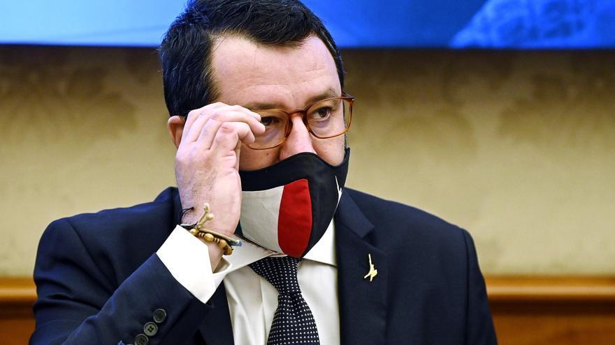El líder de la ultraderechista Liga, el exministro italiano del Interior Matteo Salvini