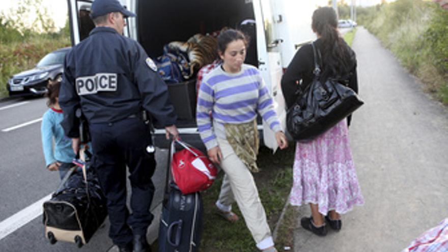 Campaña de expulsión de gitanos en Francia