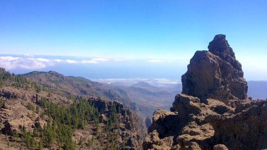 Pico de Las Nieves, en la cumbre de la isla de Gran Canaria.