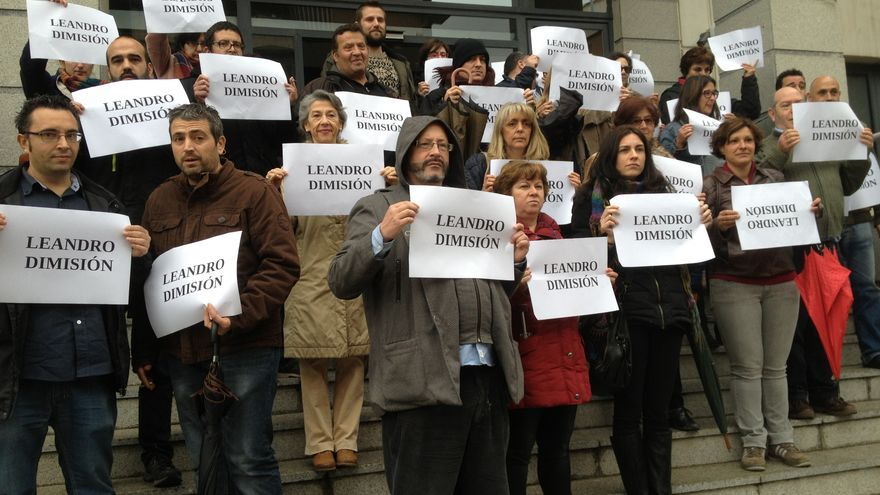 Concentración interinos en Toledo 20 de marzo de 2015, foto por Comisiones Obreras