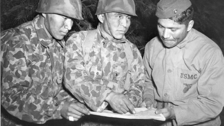 Codificadores navajo del Cuerpo de Marines de Estados Unidos