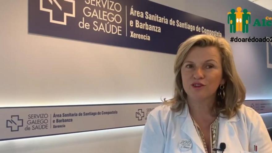 Eloína Núñez Mesid en un vídeo de la asociación Alcer Coruña