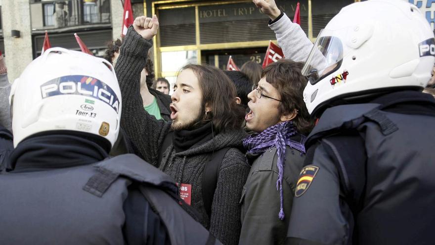 Huelga en el centro o el centro de la huelga