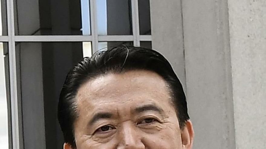 Imagen de archivo del 8 de mayo de 2018 que muestra al entonces presidente de Interpol, Meng Hongwei.