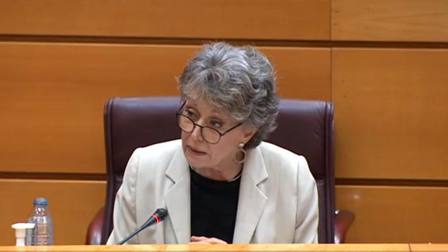 Rosa María Mateo, en su comparecencia en el Senado