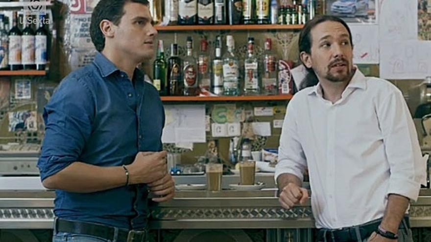 Iglesias y Rivera, en el encuentro de Salvados.
