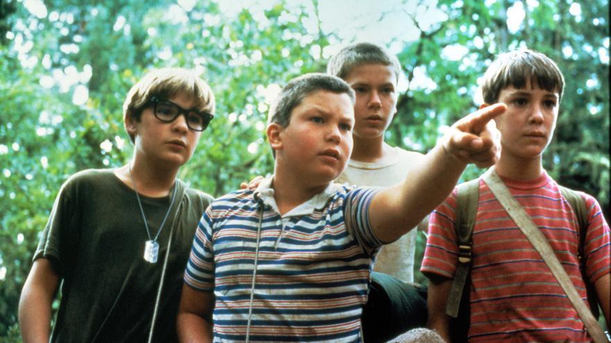 Los protagonistas de 'Cuenta conmigo' (Rob Reiner, 1986)