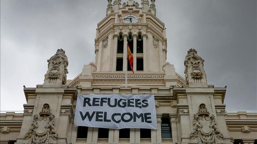 """Refugees Welcome"" (Refugiados bienvenidos), anglicismo de 2015 en Alemania"