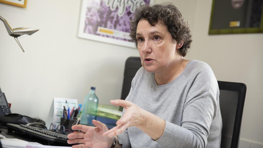 Beatriz Gimeno, durante una entrevista con eldiario.es el pasado mes de febrero.