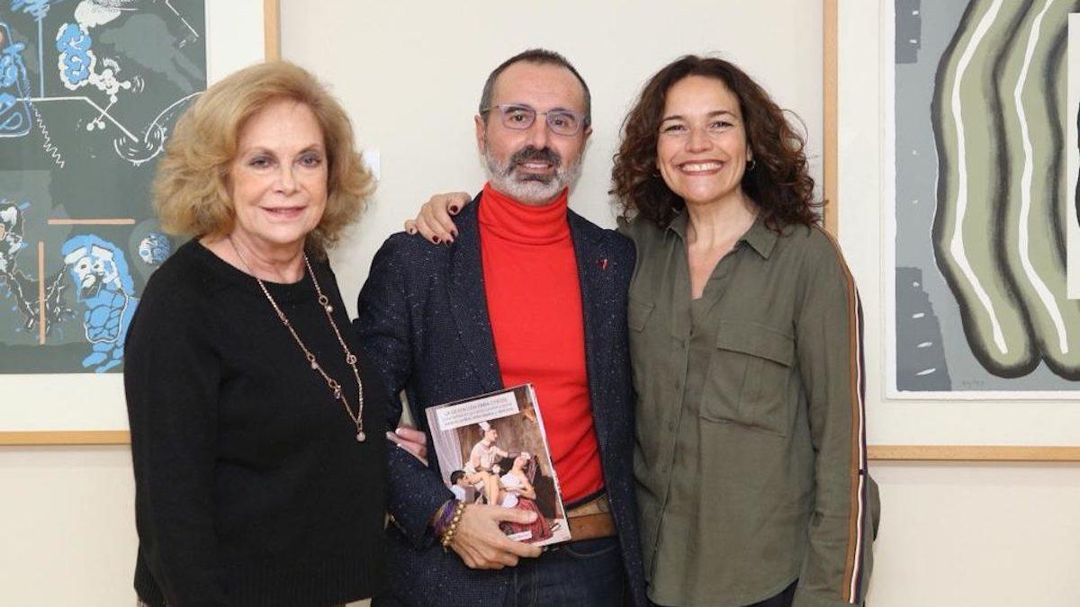 Amparo Rubiales (Izquierda), Octavio Salazar y Lina Gálvez en la presentación de 'La gestación para otros' (2019)