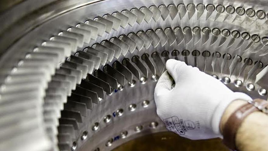 Álabes de un motor de un avión. Foto: Iberia