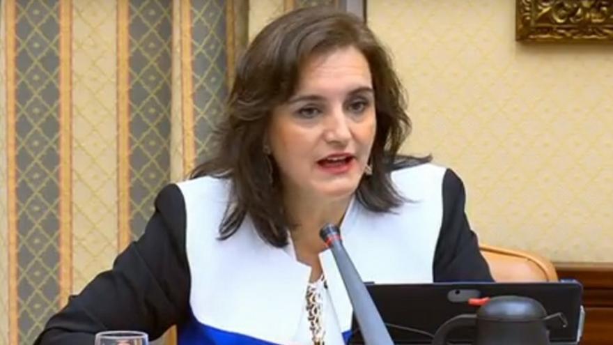 La directora de la AESA, Isabel Maestre, durante la comisión de Investigación del Accidente de Vuelo JK 5022 de Spanair