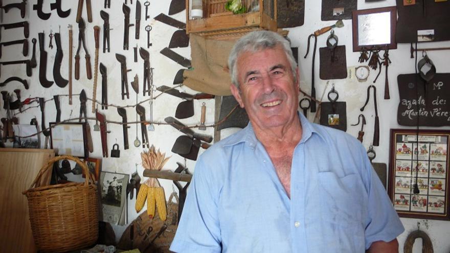 Antonio Valderas, en la 'tasca museo'