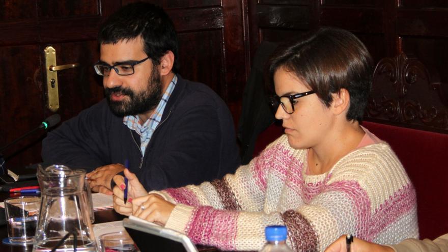 Felipe Ramos y Mariela Cáceres este jueves.