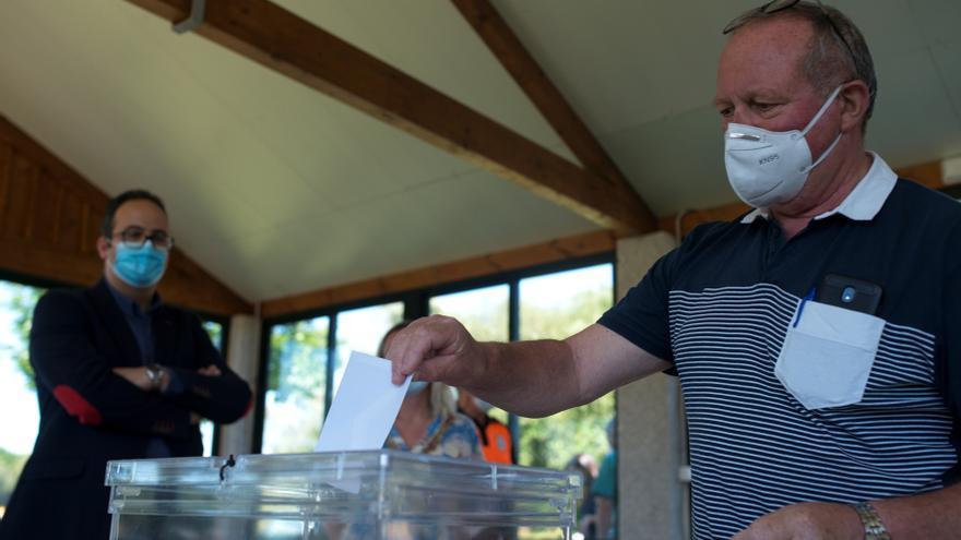 Ensayo de una votación antes de las elecciones autonómicas de julio de 2020 en Galicia.