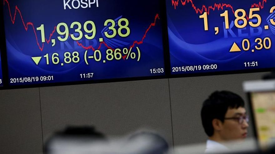 Seúl abre con una subida del 0,11 por ciento hasta los 2.068,85 puntos