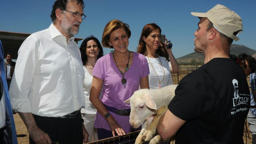 Mariano Rajoy y María Dolores de Cospedal en Malagón, Ciudad Real