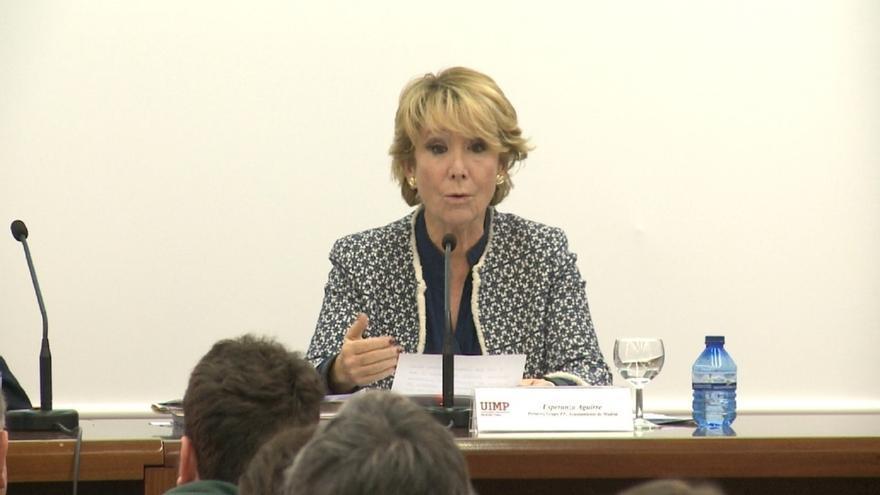 """Aguirre remarca que la Fiscalía no aprecia """"ningún dato"""" para decir que hubo espionaje en la Comunidad de Madrid"""