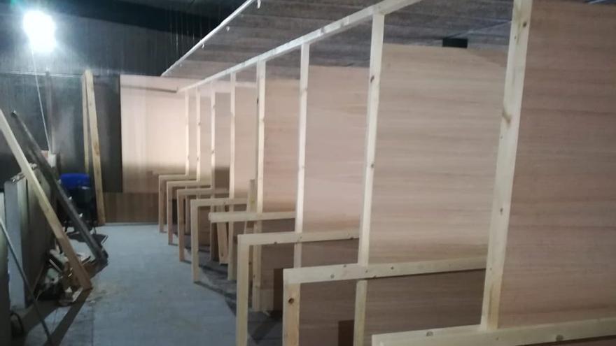 En la imagen, interior del campo de tiro de Fuencaliente.