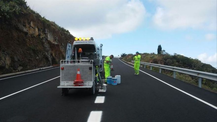 En la imagen, trabajos en la carretera del Norte.
