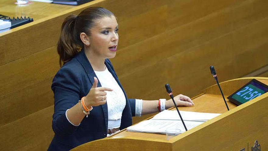 La portavoz de Ciudadanos en las Corts, Mari Carmen Sánchez
