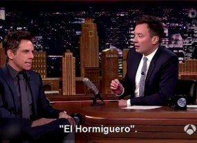 Ben Stiller habla a Jimmy Fallon de 'El Hormiguero': 'Es un programa muy loco'