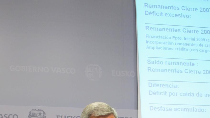 """El Gobierno vasco defiende su solvencia financiera pese a la """"herencia envenenada"""" del PNV"""