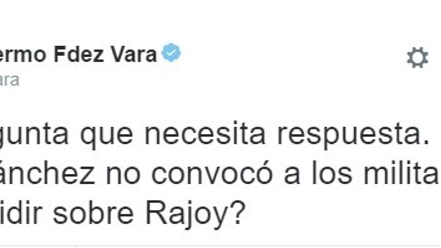 """Vara responde al anuncio de Sánchez con reproches: """"¿Por qué no convocó a los militantes para decidir sobre Rajoy?"""""""