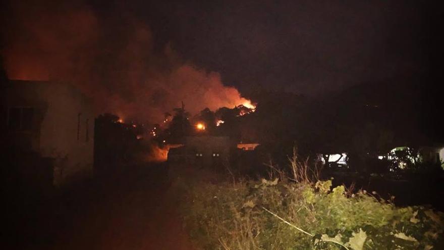 Imagen del incendio registrado en Garafía el pasado 14 de febrero.