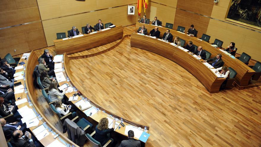 Pleno de la Diputación de Valencia en la época de Alfonso Rus como presidente