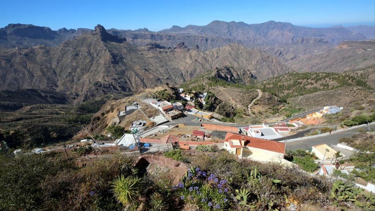 Pueblo de Artenara, en Gran Canaria.