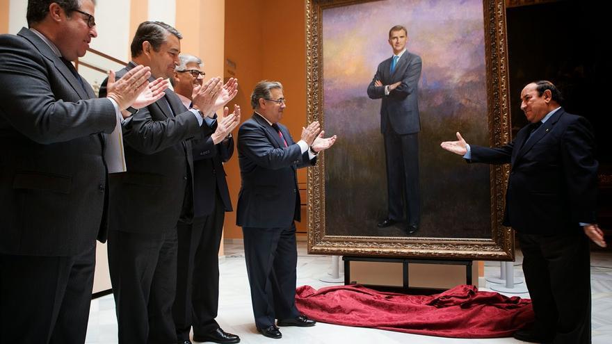 Imagen de la presentación del cuadro, el 19 de marzo pasado / Fuente: www.gelannoticias.com