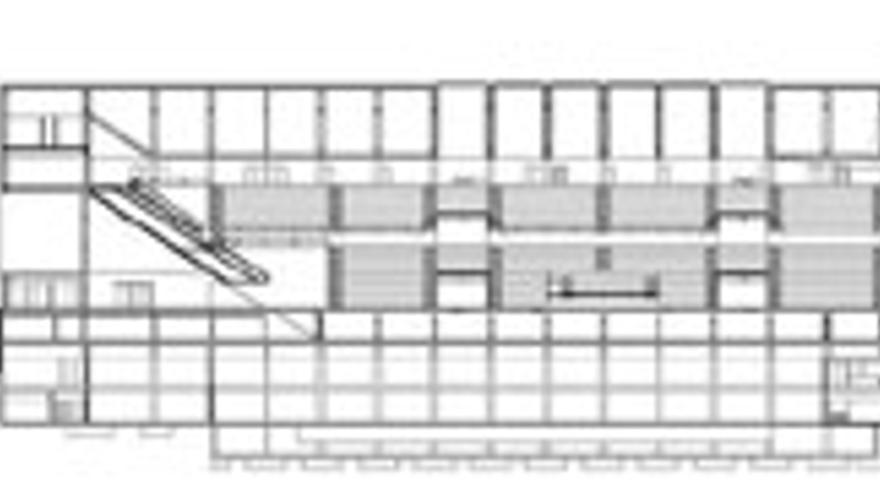 Plano del proyecto del nuevo Palacio de Deportes de Las Palmas de Gran Canaria.