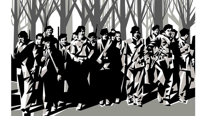 Una de las obras de Manolo Sánchez
