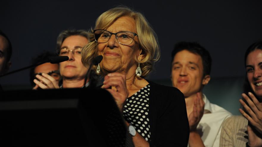 La alcaldesa de Madrid en funciones, Manuela Carmena, valora los resultados de las elecciones municipales que la llevan a perder la alcaldía.