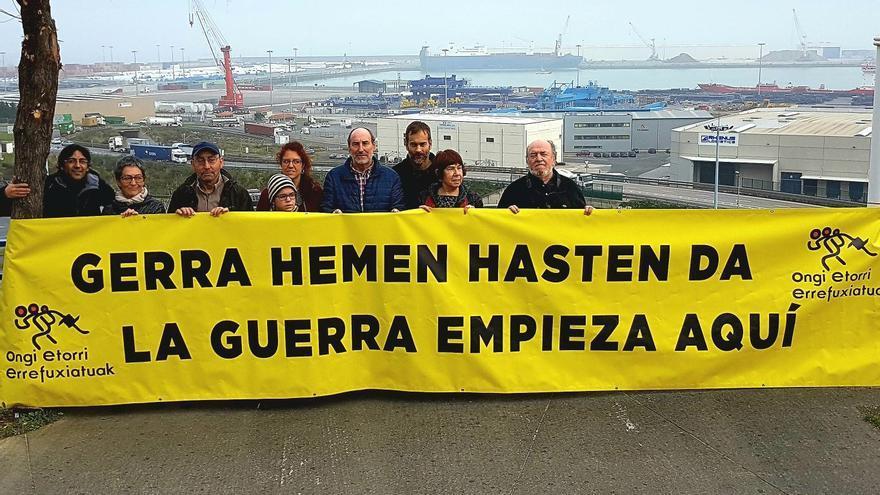 Protesta en las inmediaciones del Puerto de Bilbao